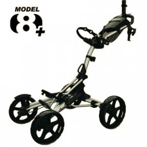 Cărucior Golf Clicgear 8+ cu 4 roți negru-gri