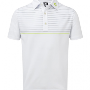 Tricou Polo FootJoy Bărbați Stretch Lisle Engineered Pinstripe