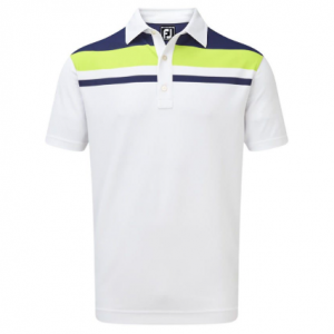 Tricou Polo FootJoy Bărbați Stretch Pique Block Yoke