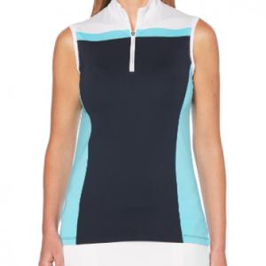 Tricou Polo Callaway 3 ColourBlock Sleevless, Fete, Blue..