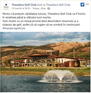 golf in contextul covid19