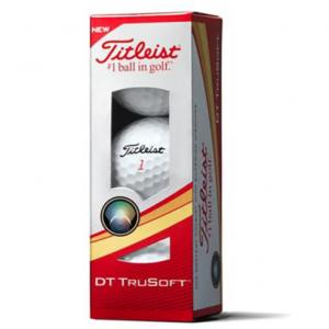 Mingi de Golf Titleist DT TruSoft, White, Sleeve ( 3 mingi )