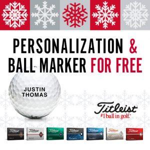 Mingi de golf Titleist Personalizare Text GRATUITA