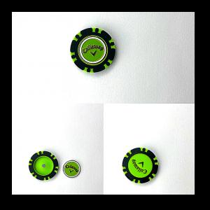 Callaway Dual Mark Poker Chip Ball Marker Negru.Verde